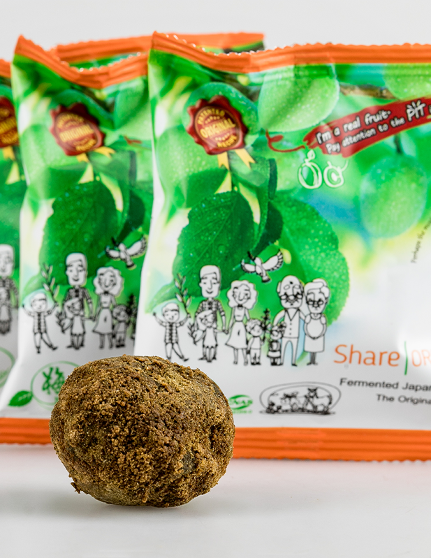 Einzelsachets Share Original Pflaume mit unverpackter Frucht